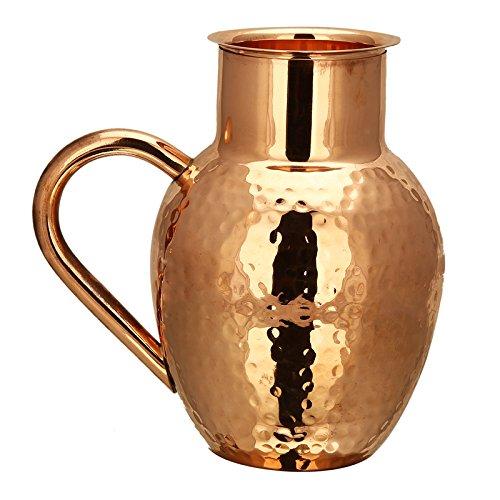 RUSTIK CRAFT Pure Copper Matki Jug 1100 Ml 33 ounce Capacity 520 Gramsset of 1