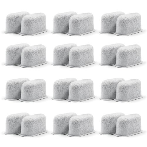 Replacement Charcoal Water Filters -Removes Chlorine odors and others impurities from Water -Better Tasting Coffee-for Cuisinart Coffee Machines- Set of 24 pack