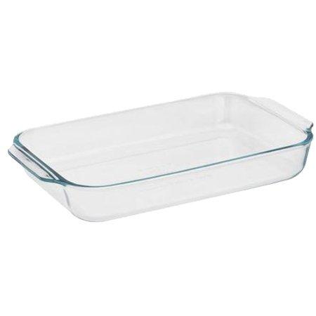 Pyrex Basics 2 Quart Glass Oblong Baking Dish Clear 111 in x 71 in x 17 in