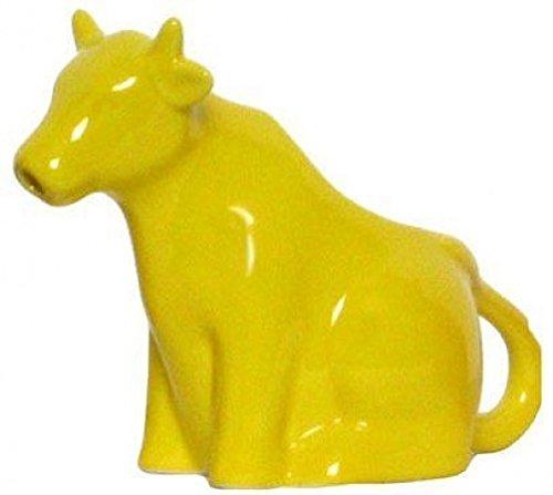 Stoneware Yellow Sitting Cow Creamer Set of 2 - 6oz - 6Lx5H