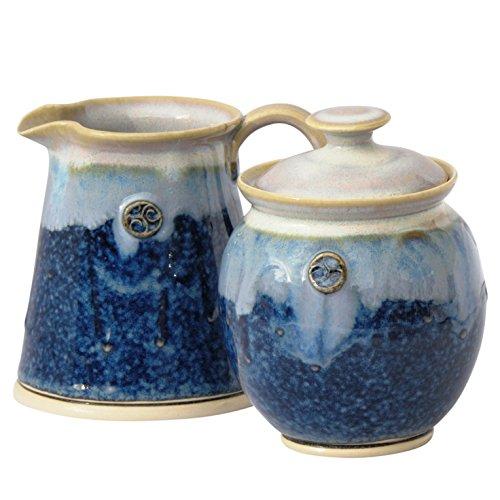 Sugar Bowl and Creamer Set Handmade Lead Free Glazed Irish Pottery