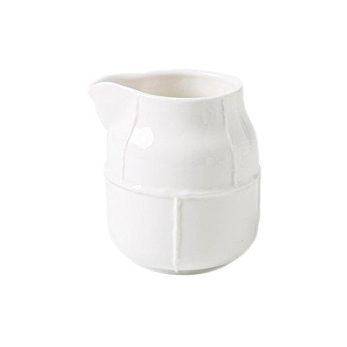 CHOOLD Elegance Pure White Ceramic Creamer Coffee Milk Creamer PitcherServing PitcherSauce PitcherMilk Creamer Jug for Kitchen