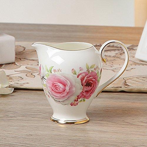 MueYan Painted Ceramic Frothing Pitcher Coffee Creamer Milk Jug Pot Drinkware