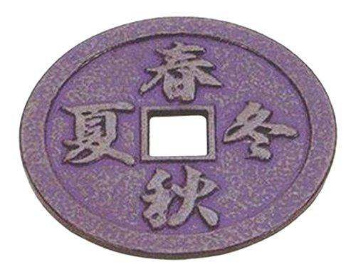 JapanBargain 2049 Cast Iron Trivet for Teapot Kettle Tetsubin Hot Pot Holder Pads for Hot Dish Pot Pans on Kitchen Countertop or Dinning Table Heat Resistant 5-14 inch Kanji Four Season Blue