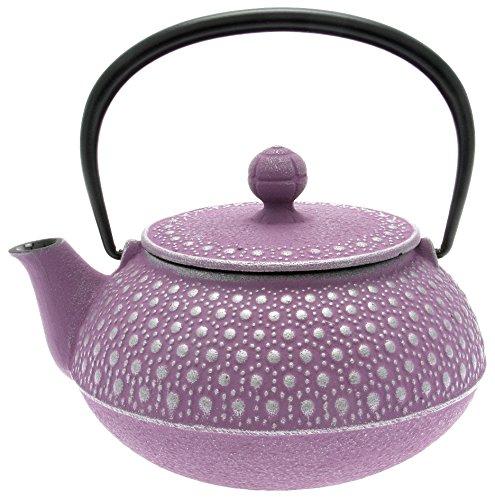 Iwachu Japanese Iron Tetsubin Teapot Honeycomb Silver and Lavender
