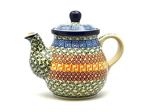 Polish Pottery Gooseneck Teapot - 20 oz - Autumn