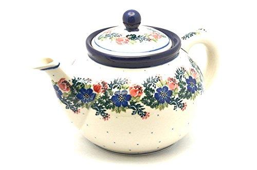 Polish Pottery Teapot - 1 14 qt - Garden Party