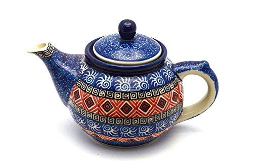 Polish Pottery Teapot - 14 oz - Aztec Sun