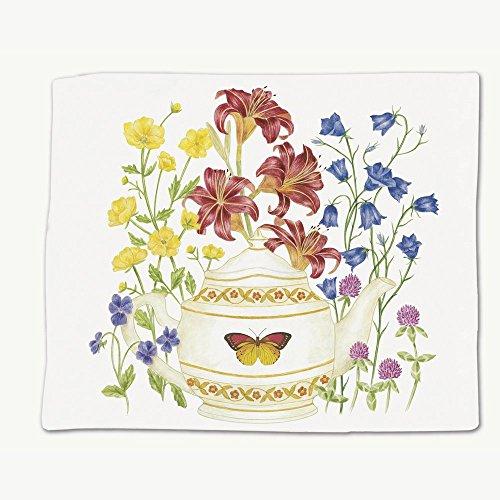 Alices Cottage ACU34456 Butterfly Teapot Flour Sack Towel Single