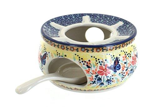 Polish Pottery Blue Butterfly Teapot Warmer