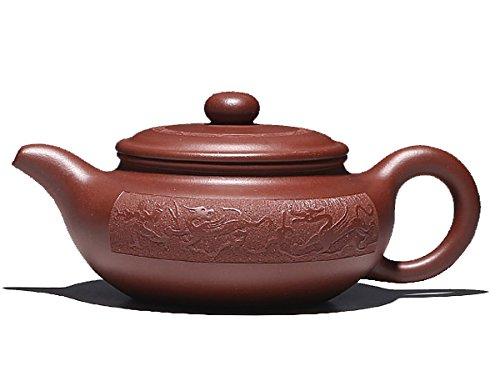 Chinese Yixing Handmade Pure Clay Zisha Teapot Fanggu Hu Dragon Tea Pot dicaoqing 390cc