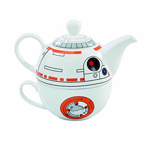 Star Wars BB-8 Ceramic Teapot and Cup Set 12 Ounce Pot 6 Ounce Mug
