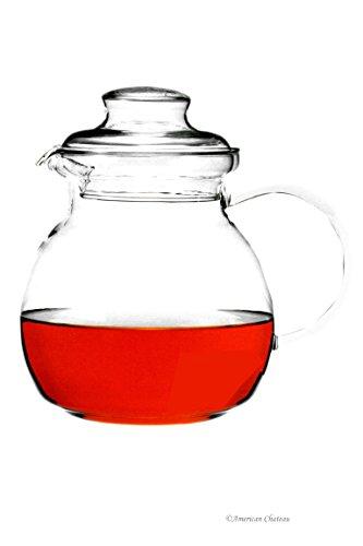 Large 51oz15L Polish Heat Resistant Borosilicate Glass Teapot Tea Pot Kettle