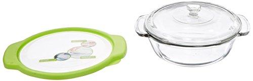 Anchor Hocking 74885 Trufit Glass Casserole Dish, 2-quart