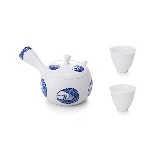Jiangshan Design China Jingdezhen Luxury Teacup and Tea Pot Set Include 1 Teapot 2 Teacup White Handmade By Master