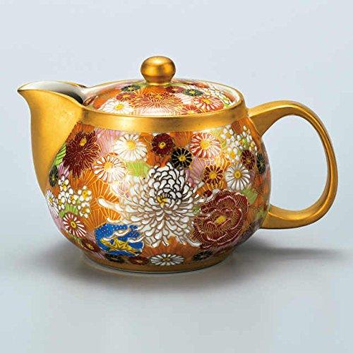 Japanese Ceramic Porcelain kutani ware Japanese kyusu teapot Gold flower Japanese ceramic Hagiyakiya 525