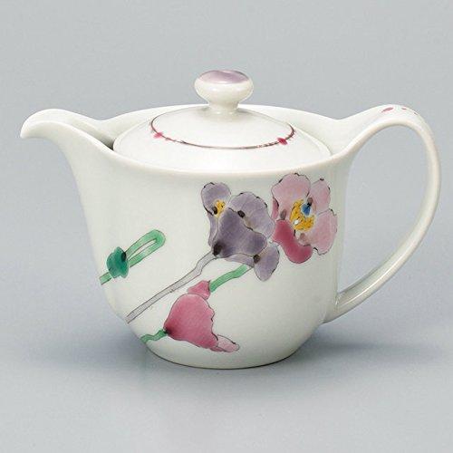 Japanese Ceramic Porcelain kutani ware Japanese kyusu teapot Poppy Japanese ceramic Hagiyakiya 526