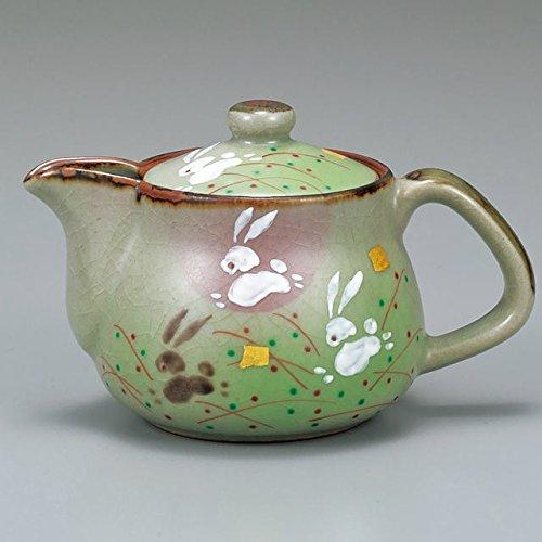 Japanese Ceramic Porcelain kutani ware Japanese kyusu teapot Rabbits Japanese ceramic Hagiyakiya 504