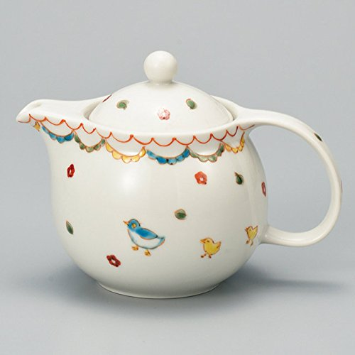 Japanese Ceramic Porcelain kutani ware Japanese kyusu teapot Small bird Japanese ceramic Hagiyakiya 519