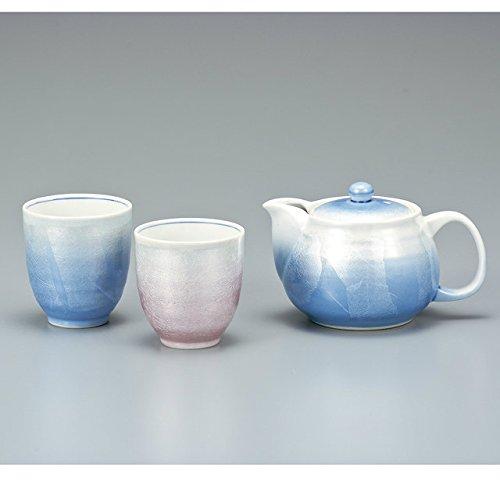 Japanese drawn Ceramic Porcelain kutani ware Japanese kyusu teapot cup set Silver Japanese ceramic Hagiyakiya 586