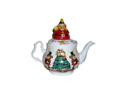 Cardew Design Alices Christmas Tea Party 4 Cup Teapot - Tweedle Dee and Tweedle Dum Lid