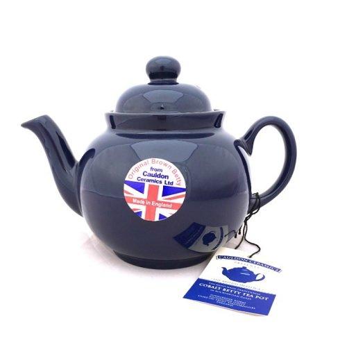 Hand Made Brown Betty 4 Cup Teapot in Cobalt Blue Cobalt Betty