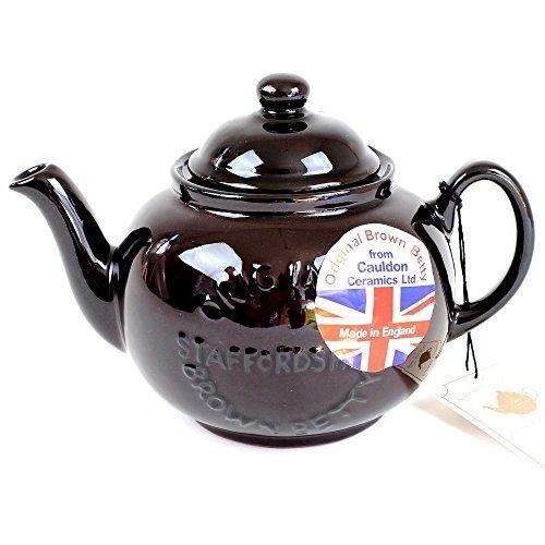 Handmade Original Brown Betty 4 Cup Teapot with Original Staffordshire Logo