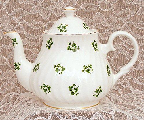 SHAMROCK 4 Cup Teapot - Fine English Bone China