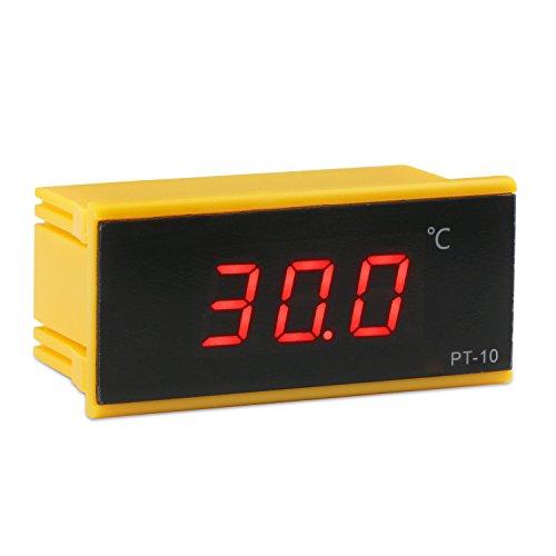 DROK DC 12V Digital Thermometer -50~120 ℃ Celsius Embeded Temperature Meter Gauge 2 Meters Sensor Cable Temp Detector for Car Fridge Refrigerator Vaccine Box Incubator Medicine Cabinet