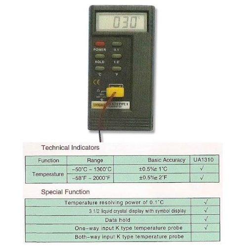 Wotefusi Precision Digital Temperature Thermometer LCD AC  DC