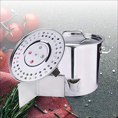 Stock Pot Stainless Steel Pot with LidCover Steamer Rack Vaporera Divider Tamales Steamer Tamale Dumpling Crawfish Crab PotSteamer ARC USA 20QT24QT32QT40QT52QT40QT