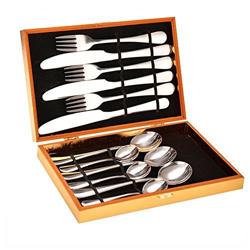 Flatware Set Stainless Steel Western Tableware 12 Piece Silverware Set Tableware Dinnerware Set Steak Knife Fork Spoon Cutlery Set