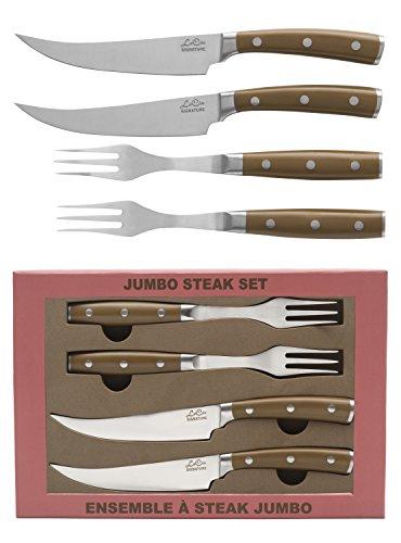 La Cote Signature Series Knife Set High Carbon German Steel ABS Handle Steak Knives Fork Set