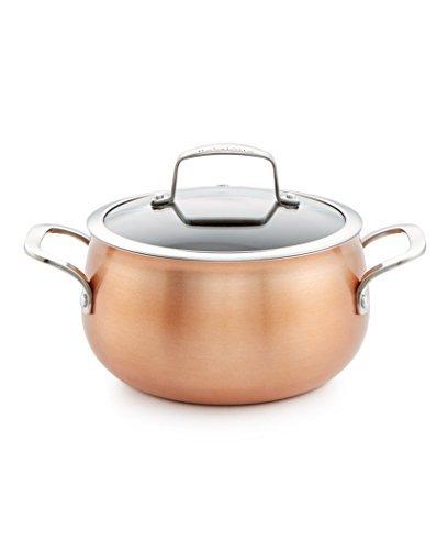 Belgique Copper Soup Pot With Lid 3 Quart