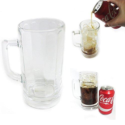 1Pc 20 Oz Beer Glass Mug Handle Clear Tea Cup Drinking Stein Soda Mugs Party Bar