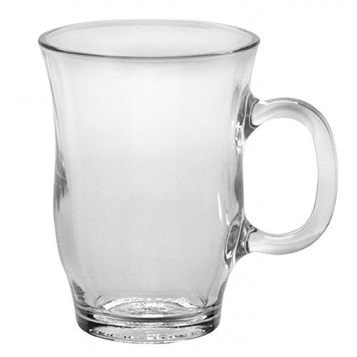 Duralex - Eiffel Clear Mug 250 ml 8 34oz Set Of 6