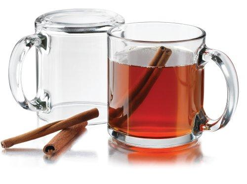 Libbey 13 oz Robusta Classic Coffee Mug in Clear Set of 4