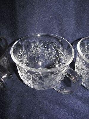 Princess House FANTASIA CAFE OR SOUP CLEAR MUGS - Set of 2
