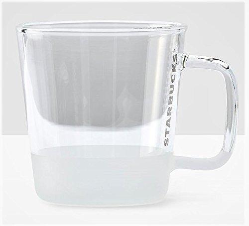 Starbucks Clear Grey Handle Glass Mug - 12 oz