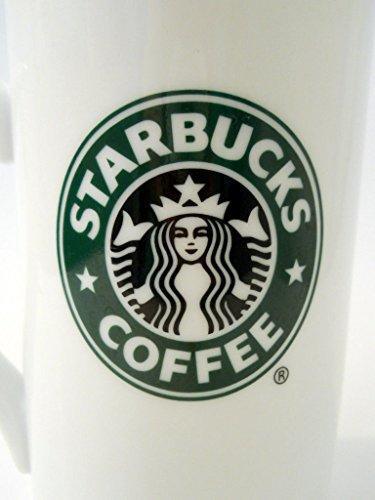 Starbucks Coffee Mug Green Logo Black Mermaid 2006 Tall White