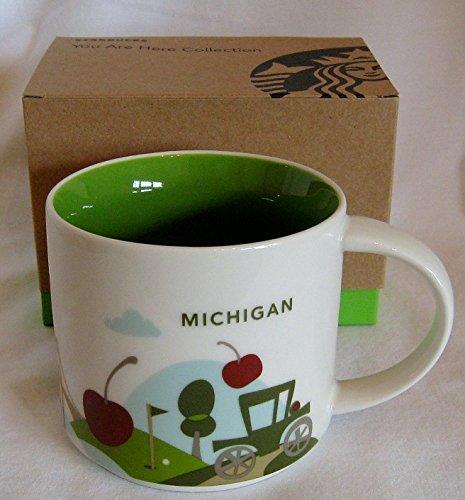 Starbucks Coffee Mug You Are Here Collection Michigan 14 oz