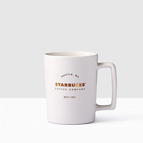 Starbucks Seattle Matte White Handle Coffee Mug 16 fl oz