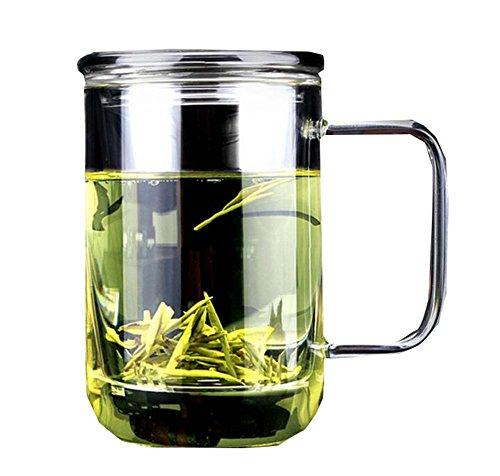 420 ML Mens Summer Tea Infuser Cup Transparent Mug