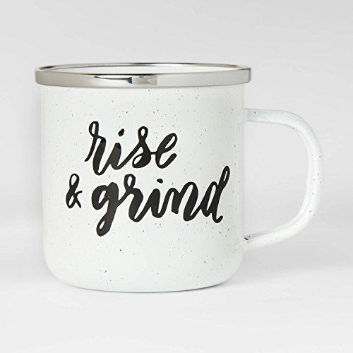 Enamel 12oz Coffee Mug by Threshold Rise Grind