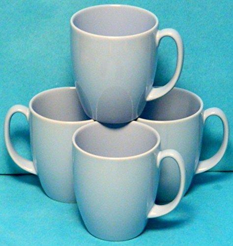 Corelle Corning Light Blue Stoneware Coffee Cups Mugs - Set of 4 Mugs