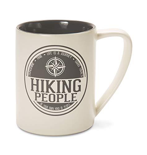 Pavilion Gift Company 67432 Hiking People-Gray Cream Coffee 18 oz Mug