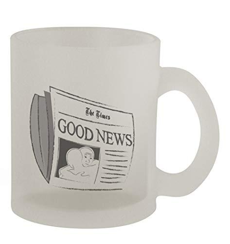 Good News 342 - Funny Humor 10oz Frosted Glass Coffee Mug Cup