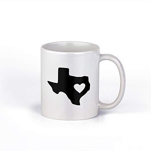 Heart in Texas Ceramic Coffee Mug  Lone Star State Coffee Cup 11-Ounce Coffee Mug  M128
