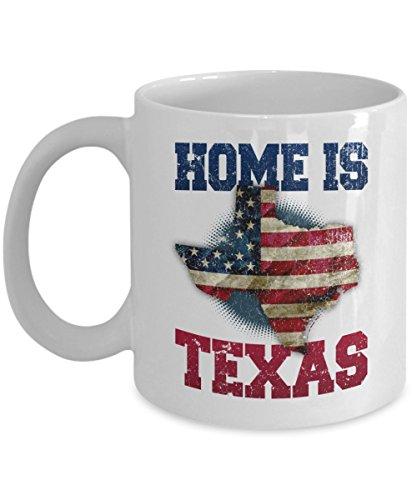 Home Is Texas Coffee mug - Texas State - 11 oz white ceramic