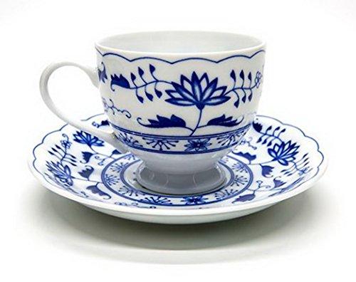 Blue And White Porcelain Coffee Mug Ceramics Flower Tea Cup - Fine Bone China